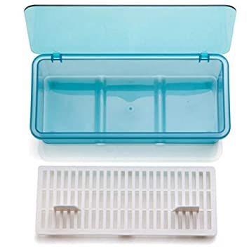 Limeo Caja de Palillos de Plástico Caja de Almacenamiento de Cubiertos Caja de Tocino de Plástico