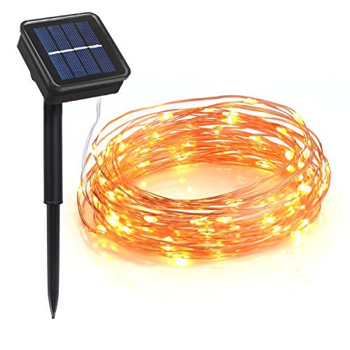 Lighting Mall Outdoor Solar String Lights, Waterproof 100 LEDs 33 Feet 8 Modes Solar Christmas Lights for Outdoor/Indoor, Garden, Patio, Wedding, Party, Holiday and Christmas Decorations (Warm - Or Outlet Bend Mall