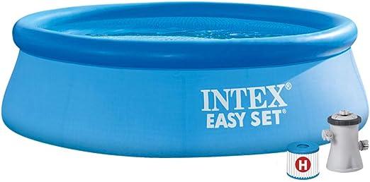 Intex 28112NP Piscina hinchable, con depuradora, 2419 litros ...