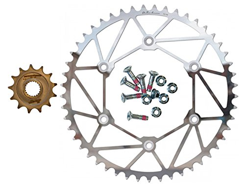 Dirt Tricks Ironman Front & Rear Sprockets Kit - 13/49 - compatible with Yamaha YZ250F & WR250F ()