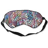 Game Magazine Geometric Illustration Sleep Eyes Masks - Comfortable Sleeping Mask Eye Cover For Travelling Night Noon Nap Mediation Yoga