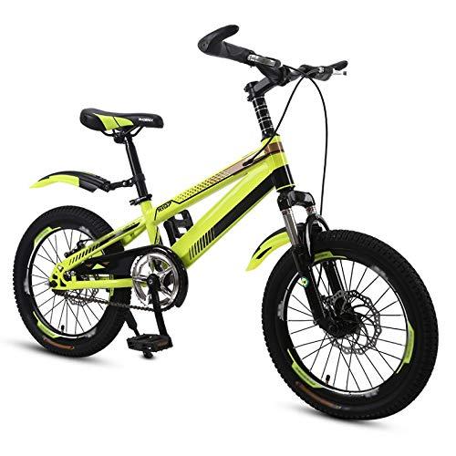【ラッピング不可】 Axdwfd 子ども用自転車 子供用自転車高炭素鋼子供用自転車(トレーニングホイール付き)18/20インチの男の子と女の子のサイクリング、子供に適した511歳 いえろ゜ 18in 18in イエロー イエロー いえろ゜ B07PQXN6ZB, 驚きの価格:c2c2c465 --- senas.4x4.lt