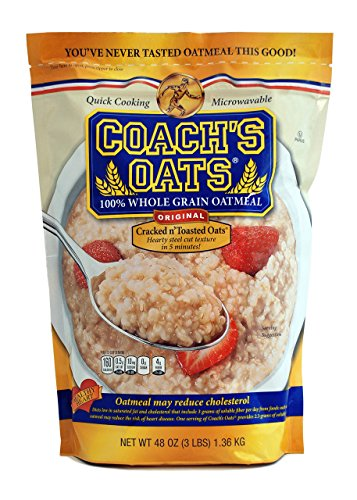 Coach's Oats 100% Whole Grain Oatmeal, 3 Pound -