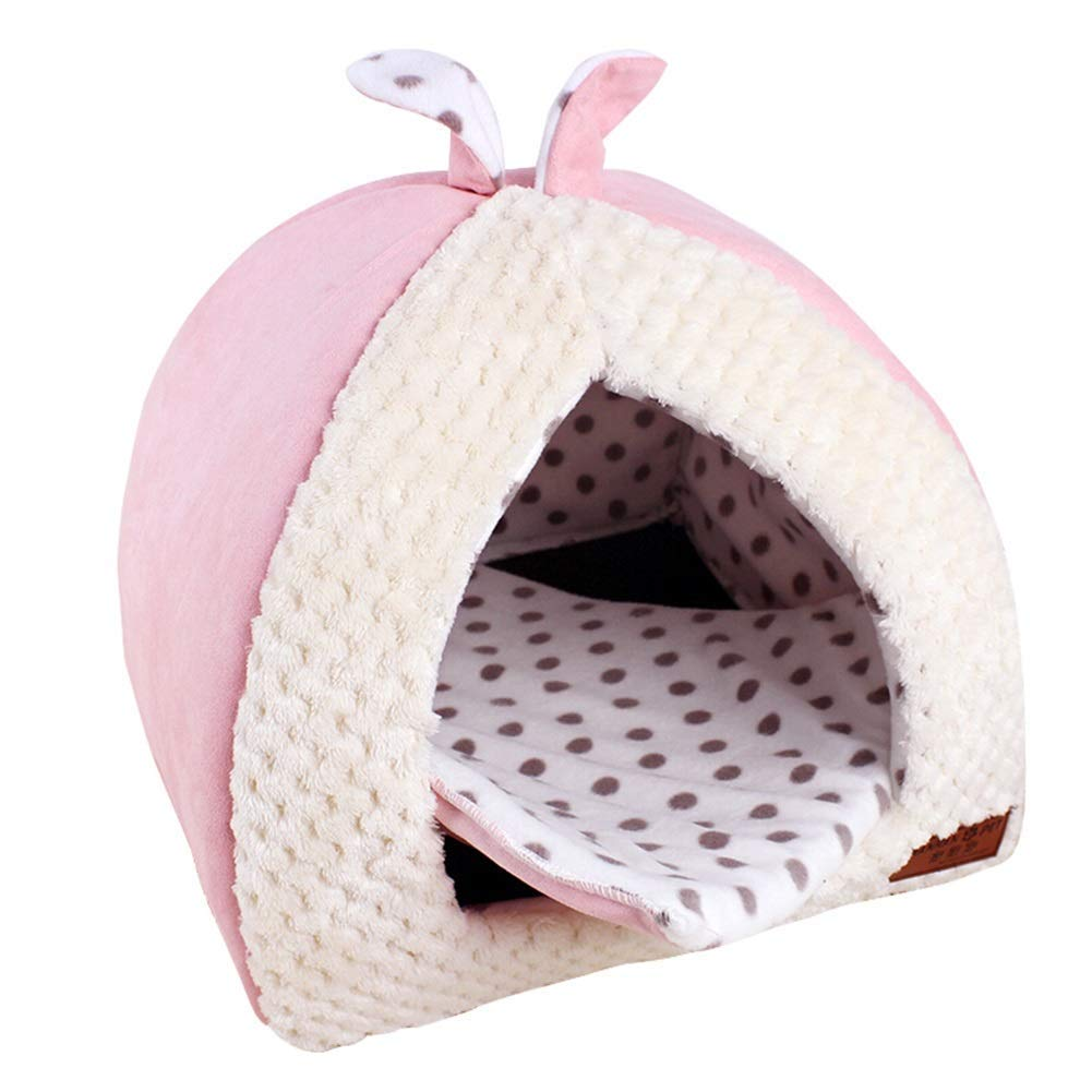 Xl PINK Xl PINK Cute Yurt Dog Bed For Small And Medium Dogs Washable Waterproof Keep Warm Cozy Kennel Cat Nest Mat Doghouse (color   PINK, Size   Xl)