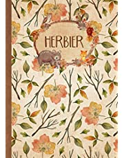 Herbier: Vierge à Remplir pour Conserver Feuilles, Fleurs et Plantes Séchées | Convient aux Enfants comme aux Adultes | Cahier Herbier Thème Forêt (Format A4)
