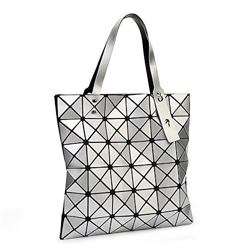 Bag Shoulder Silver Laser Golden Silica Geometric Handbags Bao Women Paint Baobao Shape one Diamond Tote Sliver Gel Bao Patchwork Size awOB6