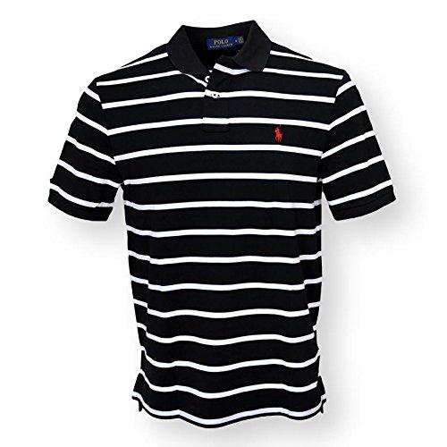 Polo Ralph Lauren Men Interlock Polo Shirt, Black MU, X-Large (Gestreift Polo Ralph Lauren)