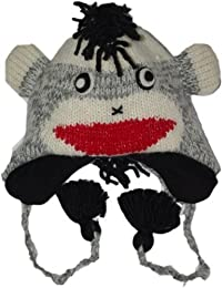 Revive Online Men's Nepal Animal Hat Wool Punk Monkey