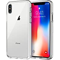JETech HD Clear Shock-Absorption Bumper Cover Case for Apple iPhone X