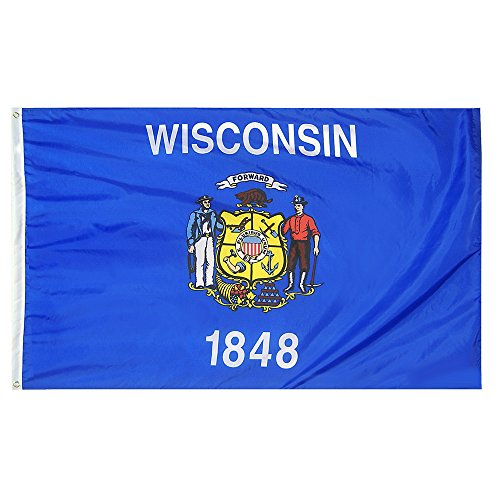 CollinsFlags 5 x 8 Wisconsin State Flag - Nylon - 100% American Made
