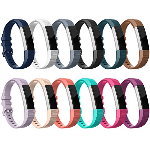 RedTaro Bands Bands Compatible with Fitbit Alta HR and Fitbit Alta, Pack of 12 Colors Large,Adjustable Replacement Accessory Bands/Straps/Bracelets for Fitbit Alta HR/Alta for Women/Men