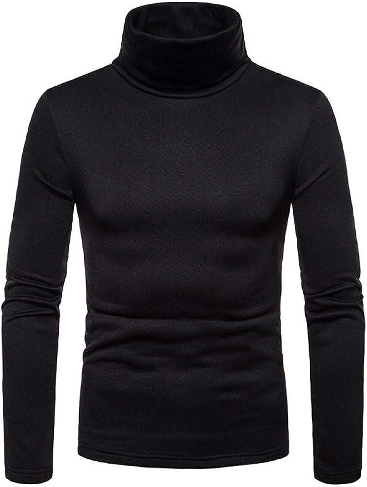 AliExpress Camiseta de manga larga para hombre, talla grande, de terciopelo, cálida, cuello de tortuga, para hombre