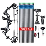 """Topoint Compound Bow Ship from USA Warehouse, Archery Package M1, 19""""-30"""" Draw Length,19-70Lbs Draw Weight,320fps IBO Limbs Made in USA"""