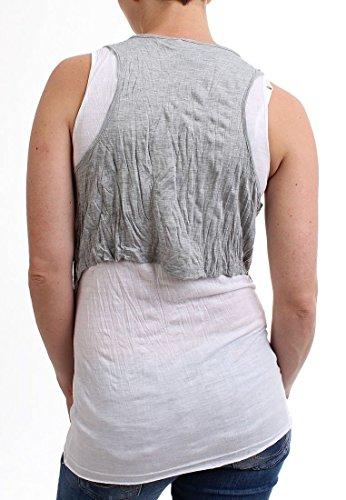 MOD Top Women - SU13-TO078 - White-Grey Melange