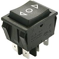 Pulsador basculante bipolar 32x25,6mm ON-OFF-ON