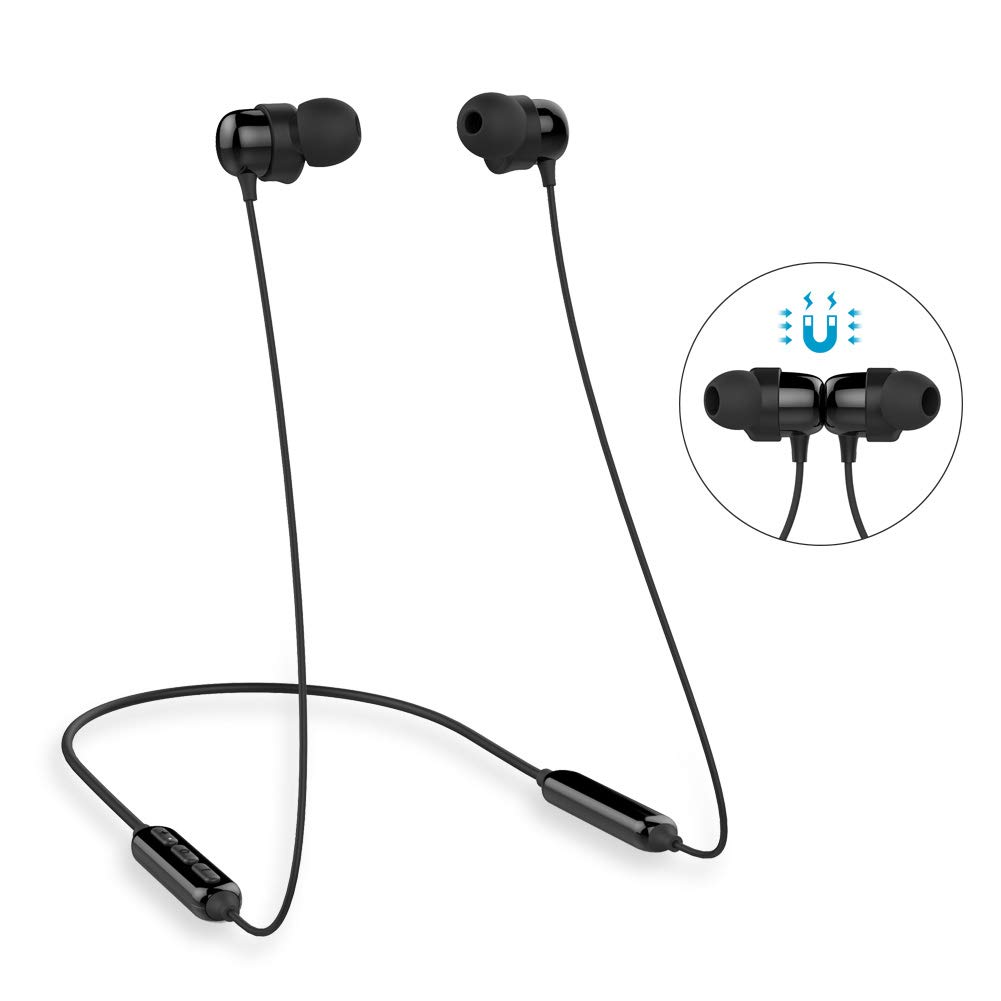 Wireless Earbuds Magnetic, Kitbeez Neckband Bluetooth Headphones Sport in Ear V4.2 IPX5 Sweatproof Earphone 6-8 Hours Playing Times with Microphone Compatible for iOS Android Phone