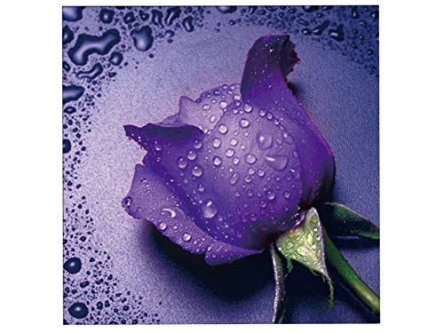 TINMI ARTS 5D Diamond Painting Cross Stitch Kits Rose Flower Rhinestone Embroidery Home Wall Decor 11.8×11.8inch(30×30CM) (Purple)