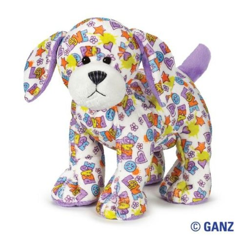 Webkinz Peace n' Love Puppy with Magnetic Bookmark
