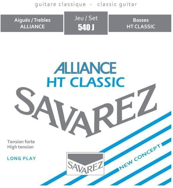 Cuerdas para guitarra clásica de nailon cuerdas Savarez 540J de alta tensión