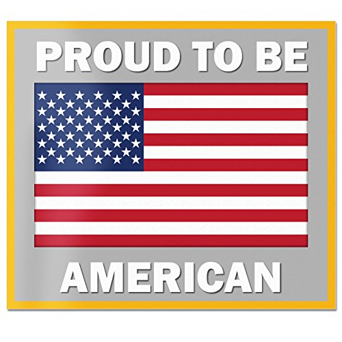 - Best In Auto Proud to Be American USA Flag Color Car Decal Vinyl Sticker 4