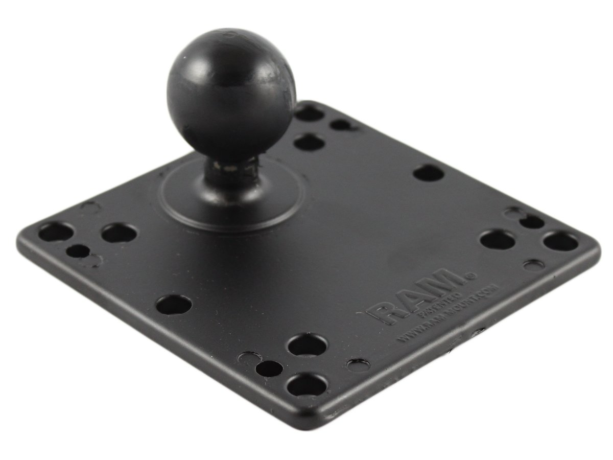 Ram Mount 4.75-Inch Square Plate with VESA Hole Patterns and 1.5-Inch Diameter Ball
