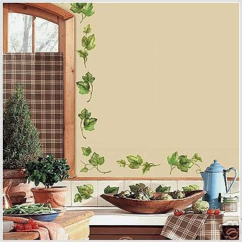 Evergreen Ivy 38 Wall Stickers Room Decal Vines Leaves New