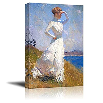 Sunlight by Frank Weston Benson - Canvas Print Wall Art Famous Painting Reproduction - 32