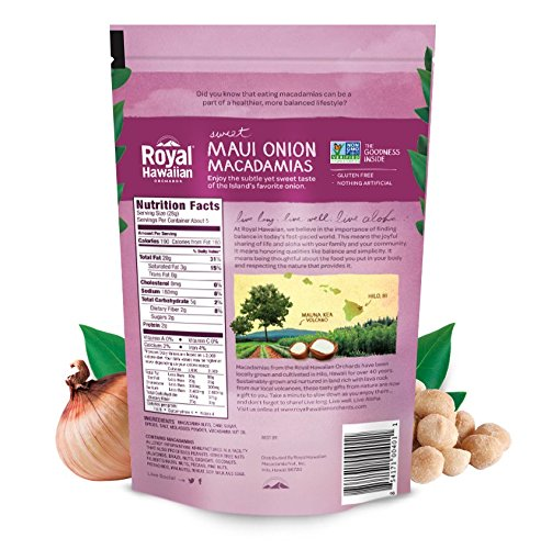 Royal Hawaiian Orchards Maui Onion Macadamias, Pack of 6/5 ounce Bags by Royal Hawaiian Orchards (Image #1)