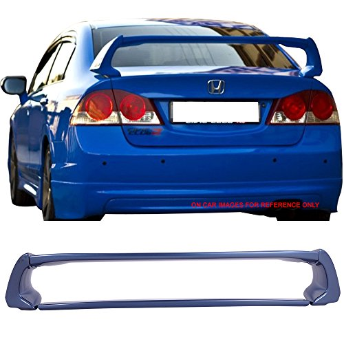 oiler Fits 2006-2011 Honda Civic | ABS Painted Atomic Blue Metallic #B537M Trunk Boot Lip Wing Deck Lid Other Color Available By IKON MOTORSPORTS | 2007 2008 2009 2010 ()