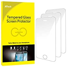 JETech Screen Protector for Apple iPhone SE 5s 5c 5 Tempered Glass Film, 3-Pack