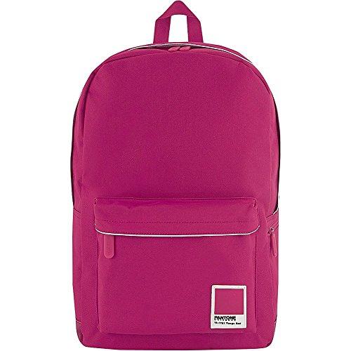 Pantone Large Backpack Durable Hiking Travel 15in Laptop Back Pack Cabaret ()