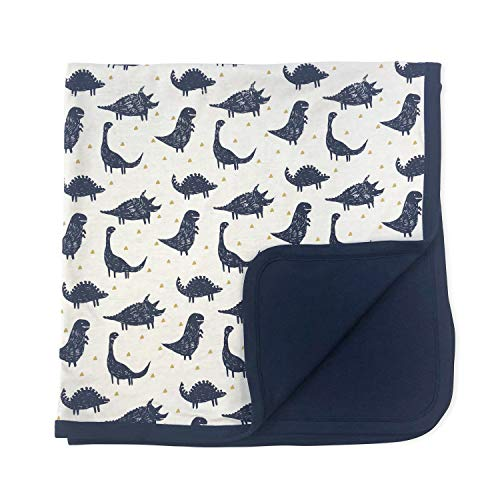 Finn + Emma Reversible Organic Cotton Blanket for Baby Boy or Girl - Dinos