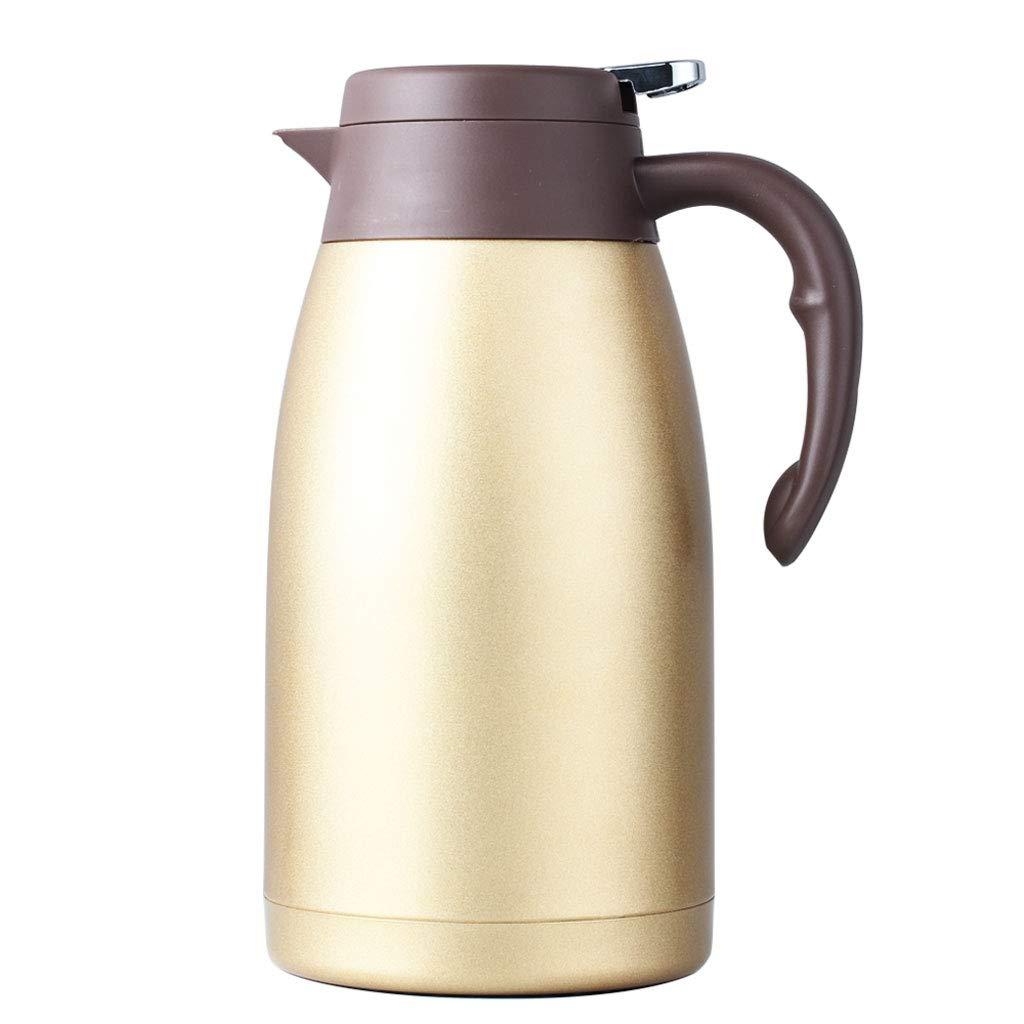 FYCZ Edelstahl Pumpe Isolierflasche Krug - ideal für heiße und kalte Getränke Getränke Tee Kaffee Wasser (groß (2L)
