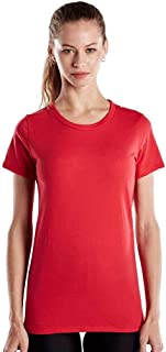 product image for US Blanks Ladies' 4.3 Oz. Short-Sleeve Crewneck L Red