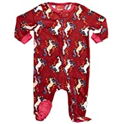 Leveret Baby Girls Fleece Footed Sleeper Pajama (6-12 Months, Unicorn)