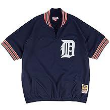 Kirk Gibson Detroit Tigers #23 Men's Mitchell & Ness 1/4 Zip Mesh Batting Practice Jersey