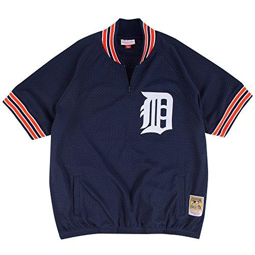 Mitchel & Ness Kirk Gibson Detroit Tigers #23 Men's 1/4 Zip Mesh Batting Practice Jersey ()