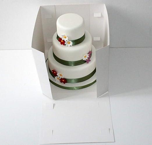 Caja para tarta de varios pisos, de 27,5 x 25,5 cm: Amazon.es: Hogar