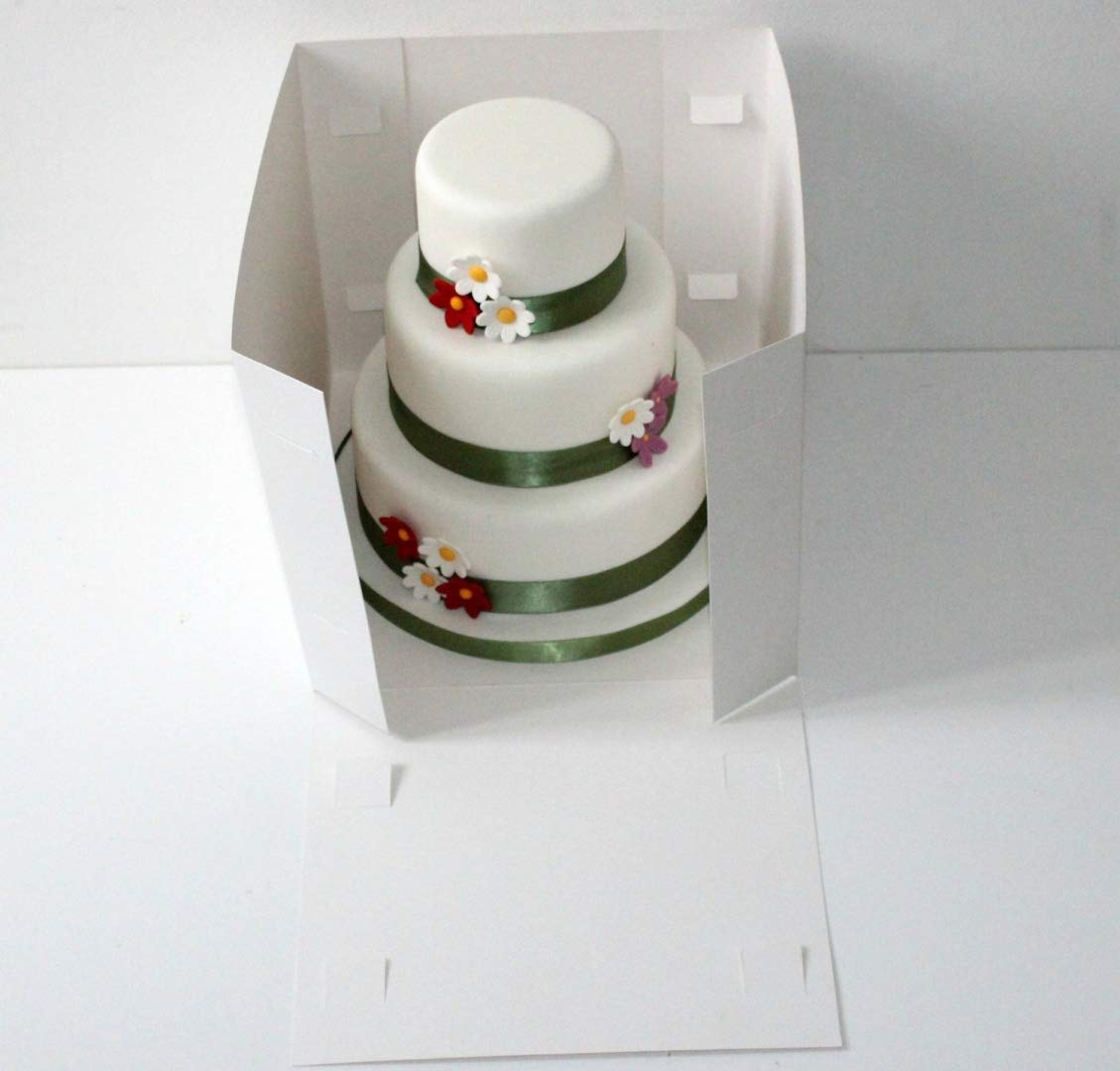 14 x 13 Inch Tall Tiered/ Stacked Cake Box The Cake Decorating Shop