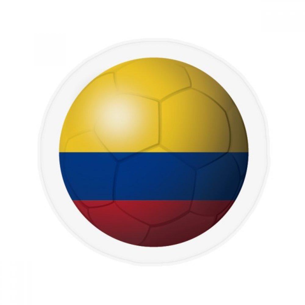 60X60cm DIYthinker Colombia National Flag Soccer Football Anti-Slip Floor Pet Mat Round Bathroom Living Room Kitchen Door 60 50Cm Gift