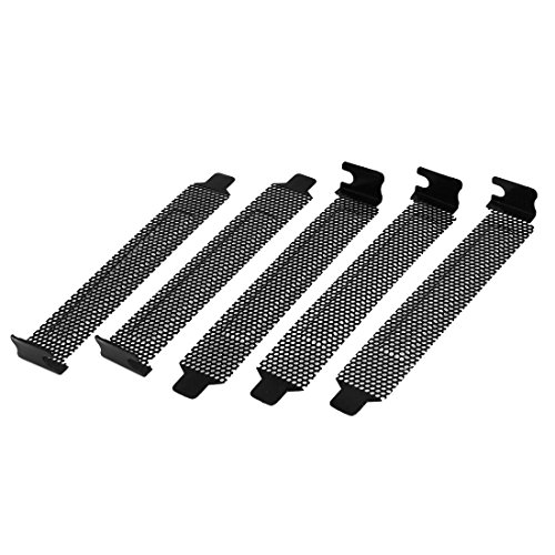 uxcell 5 Pcs Hard Steel Dust Filter Blanking Plate PCI Slot Cover w Screws