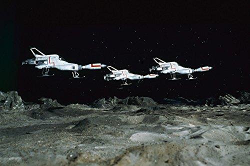 UFO three Interceptors above Moon base Gerry Anderson TV show 18x24 Poster