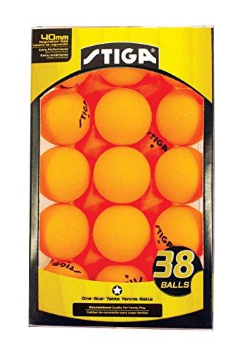 Stiga 1 star table tennis balls 38 pack for 1 gross table tennis balls