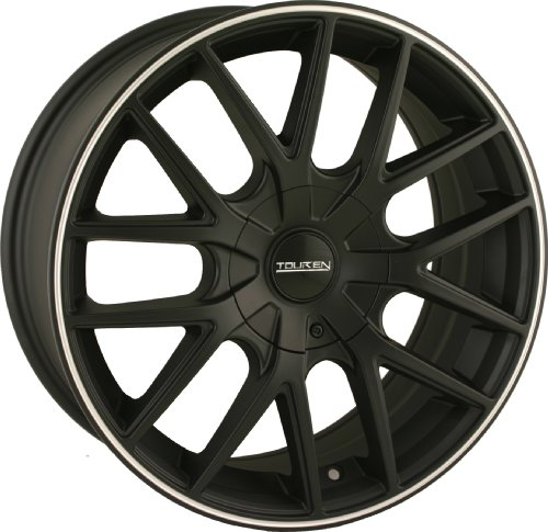 Touren TR60 18 Black Wheel / Rim 5x4.5 & 5x120 with a 20mm Offset and a 74.1 Hub Bore. Partnumber 3260-8804MB