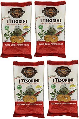 I Tesori di Canusium: I Tesorini Aglio Olio e Peperoncino 7.93 Ounce (225gr) Package (Pack of 4) [ Italian Import ]