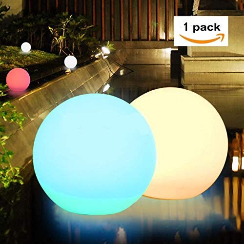 Waterproof Floating Solar Powered White Led Globe Light