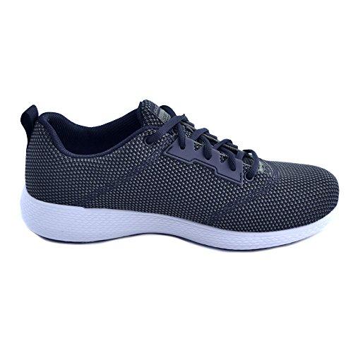 Skechers Chaussures de Sport Baskets KULOW Modèle, pour Les Hommes Noirs et Verts, Tissu Maille Respirant et Memory Foam Taille 40