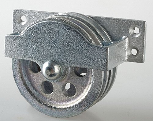 Double Pulley Block, Sheave OD 3-1/4