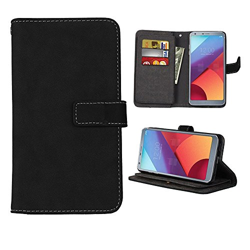 LG G6 Plus Case, SUMOON [Vintage Style] Luxury Fashion PU Leather Magnet Wallet Credit Card Holder Flip Case Cover with Built-in 9 Card Slots & Stand For LG G6 ()