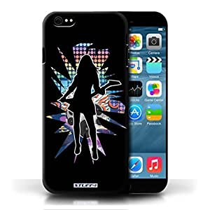 KOBALT? Protective Hard Back Phone Case / Cover for HTC One M8   Rock Chick Black Design   Rock Star Pose Collection